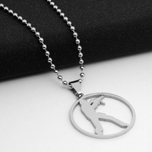 GO Counter-Strike Logo Symbol Necklace Round Global Offensive Pendant Necklace Stainless Steel Anime Game CS Logo charm Necklace anime game series the legend of zelda pendant necklace kids jewelry stainless steel triforce symbol triangle layered necklace