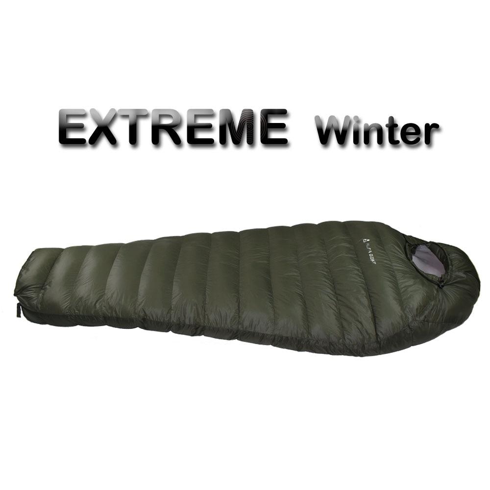 Saco de dormir de invierno de temperatura fría para el invierno, relleno de plumón de pato verde del Ejército 1 kg 1,5 kg de plumón saco de dormir