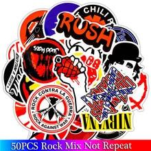 50 sztuk opakowanie Rock zestaw naklejek heavy metalowy zespół naklejki na bagaż deskorolka Laptop gitara lodówka rower Punk naklejki