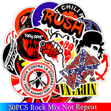 50PCS Pack Rock Stickers Set Heavy Metal Band Stickers For Luggage Skateboard Laptop Guitar Fridge Bicycle Punk Stickers