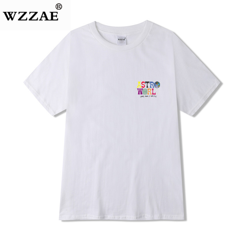 2019 New Fashion Hip Hop T Shirt Men Women Travis Scotts ASTROWORLD Harajuku T-Shirts WISH YOU WERE HERE Letter Print Tees Tops 1
