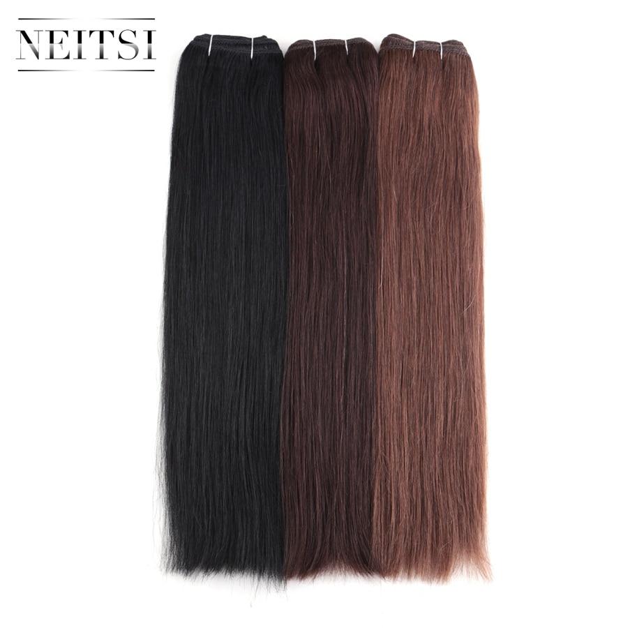 Neitsi Straight Brazilian Remy Human Hair Extensions 16 40 cm 100g pc 1 1B 2 4