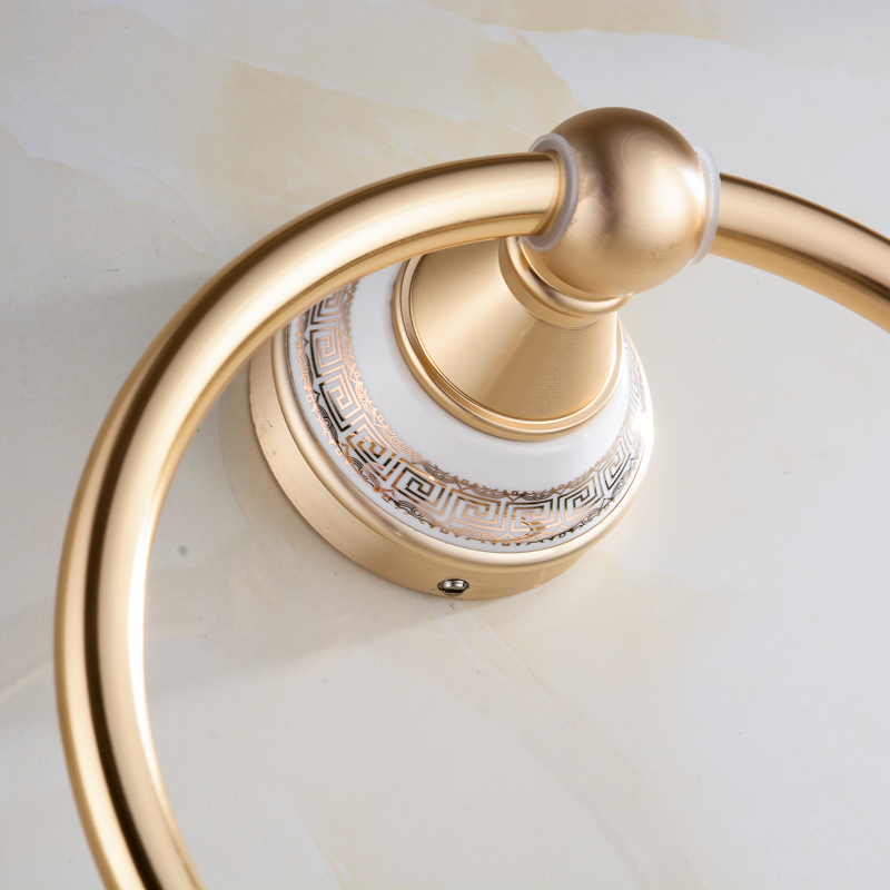 Bathroom Hardware Space Aluminum Towel Ring Round Ou Shi Wei Yu Hang Bathroom Towel Rack Jie Sha Lang 2260 Bathroom Fixtures