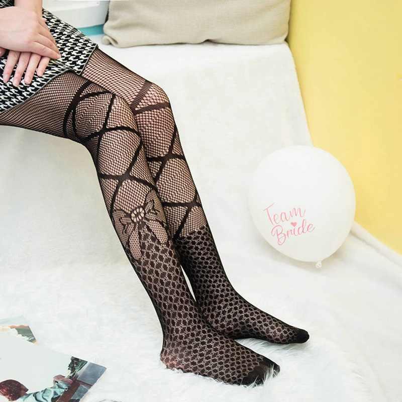 8289f6219a1 Fashion Womens Lady Girls Black Sexy Fishnet Pattern Jacquard Stockings  Pantyhose Tights skull Woman 1pcs
