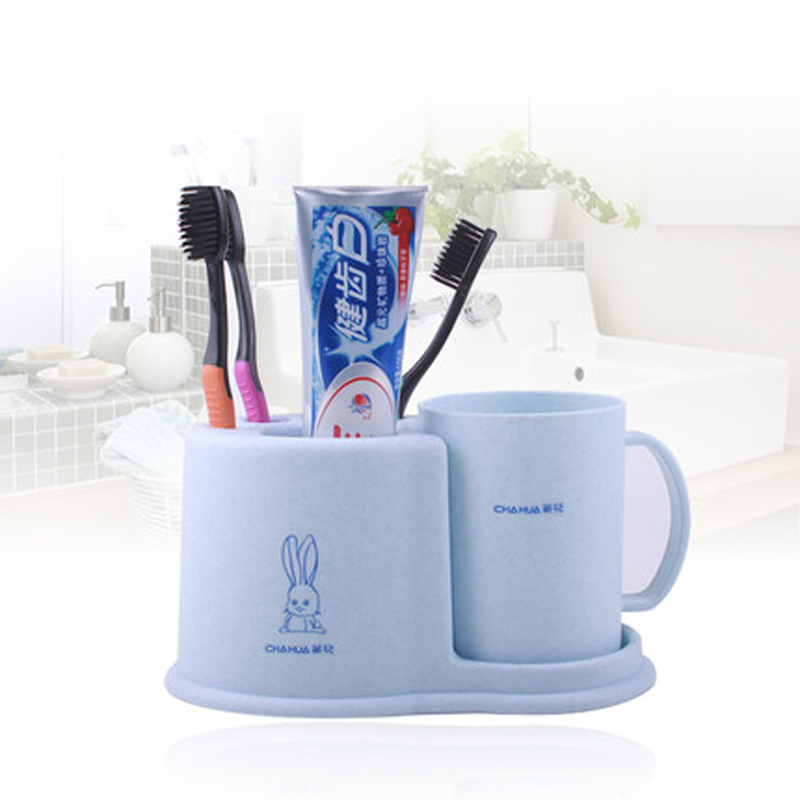 Creative Personal 2Pcs/Set Bathroom Accessory Set Plastic Tumbler Toothbrush  Holder Storage Rack Supplies Wash