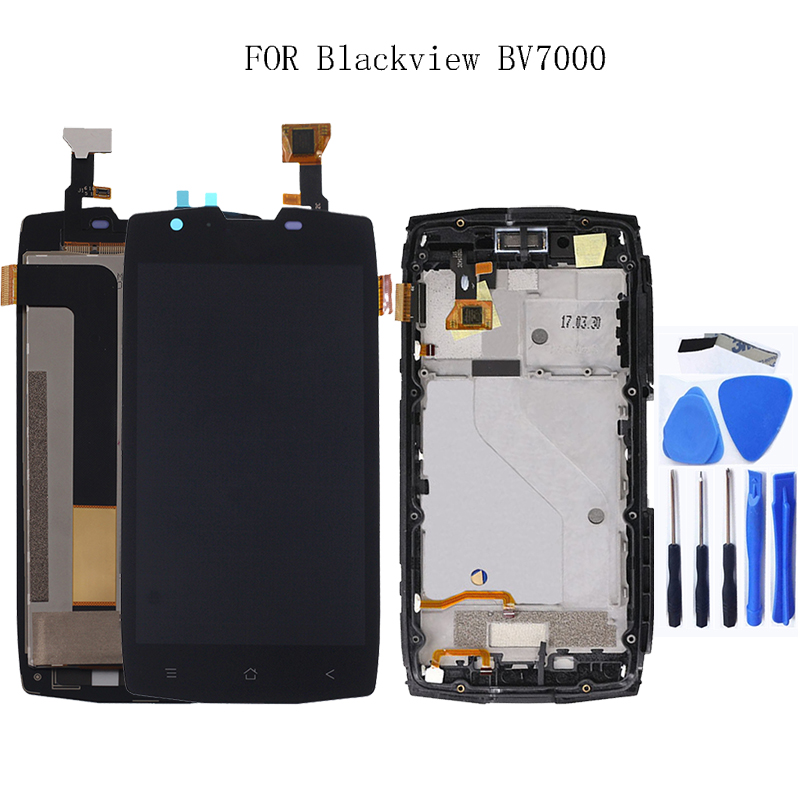 """For Blackview BV7000/BV7000 Pro LCD Monitor + Touch Screen Digitizer Kit + Frame with 5.0"""" 1920x1080P LCD +Free Tool-in Mobile Phone LCD Screens from Cellphones & Telecommunications"""