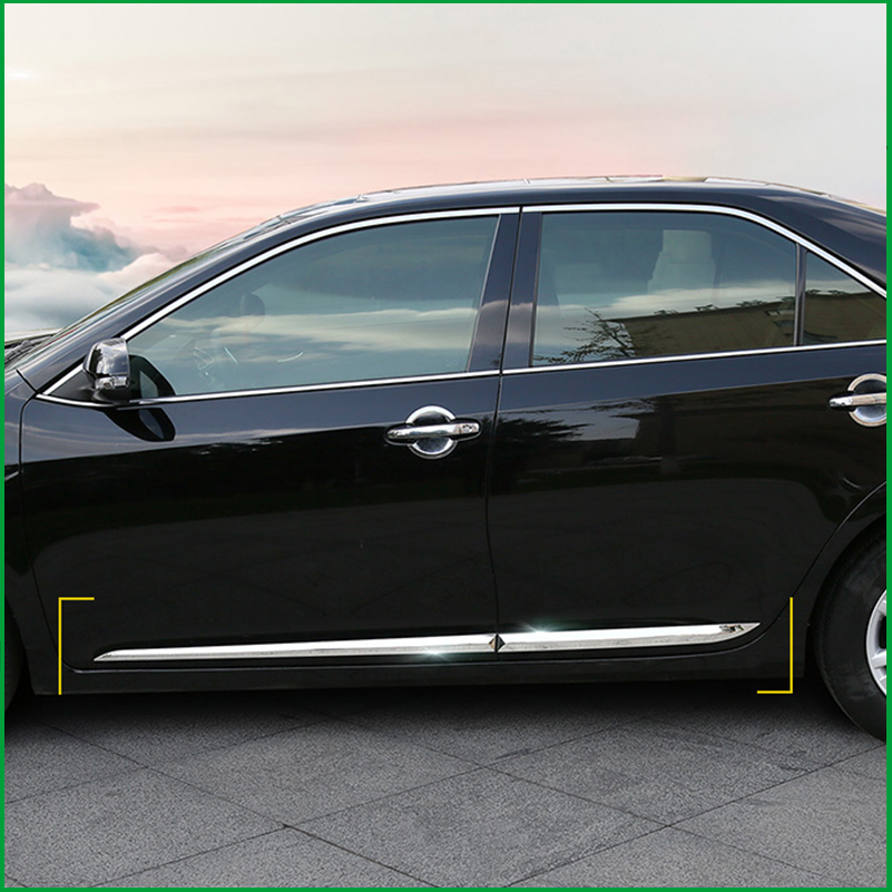 Automobiles & Motorcycles 2019 New Style For Toyota Camry V50 V55 Abs Or Stainless Steel Body Molding Door Side Line Garnish Trim Cover Protector Accent Lining Strip Auto Replacement Parts