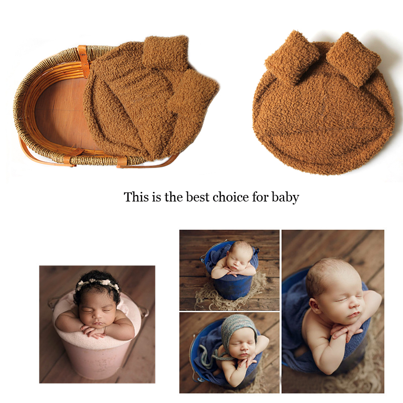 Newborn Photography Props Fold Easy Photographys Mat for 0-3 Months Soft Breathable Blanket Artistic Photographys Free Shipping