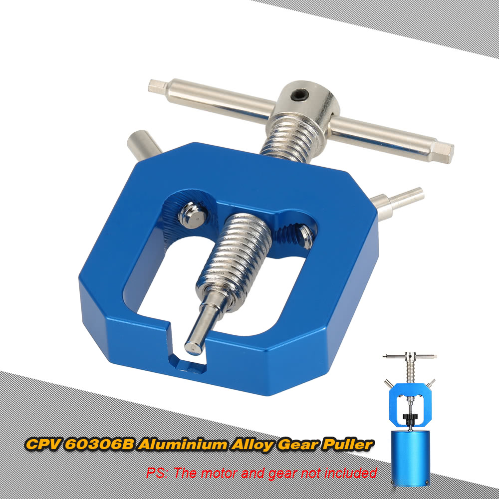 Blue Gear Bearing Puller Extractor Tool Full Metal Motor Aluminum Alloy 56 Mm For 1/10 HSP HPI Truck Remote Control Car