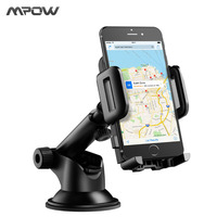 Mpow Car Phone Holder Adjustable Dashboard Cellphone Mount Holder With Strong Sticky Gel Pad 360 Degree