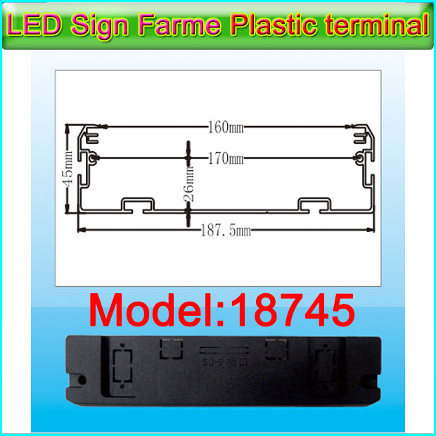 Gicl18745 Framework Plastic Terminal P5/P10 LED Display Frame Accessories, Indoor Semi-outdoor LED Display Screen