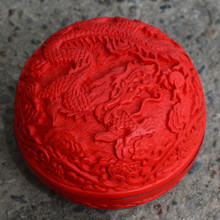 Exquisite Chinese Flower Red Cinnabar Lacquer Dragion Auspicious Jewelry Box No.2 exquisite chinese flower red cinnabar lacquer beautiful flower auspicious jewelry box
