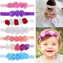 Rose Ribbon opaski do włosów Handmade DIY nakrycie głowy Photo prop 3D Flower hairband dzieci dziecko noworodka Baby Girl HEADBAND Satin akcesoria tanie tanio 2M 12M 11M 21M 24M 8T 1M 26M 9M 23M 10T 35M 6M 5T 31M 25M 27M 7M 8M 15M 4T 33M 22M 17M 14M 6T 9T 28M 12T 20M 13M 11T 5M 3T 10M 32M 0-1M 19M 30M 18M 4M 16M 3M 29M 7T 34M