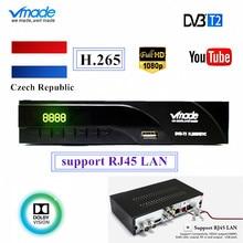 Czech Republic NEW DVB-T2 / DVB-T Built RJ45 H.265 / HEVC HD Digital Terrestrial Receiver Support Youtube Dolby DVB T2 TV Tuner цены