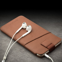 QIALINO Calf Skin Genuine Leather Case for iPhone 6 6s 6Plus 6sPlus