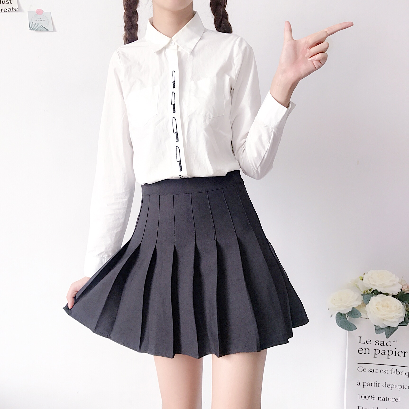 XS-3XL Women Skirt Preppy Style High Waist Chic Stitching Skirts Summer Student Pleated Skirt Women Cute Sweet Girls Dance Skirt 34