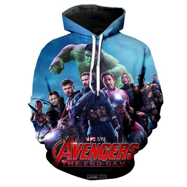 2019 Avengers Sweat à capuche Cosplay Super-héros Advanced Tech Veste Sweat costumes
