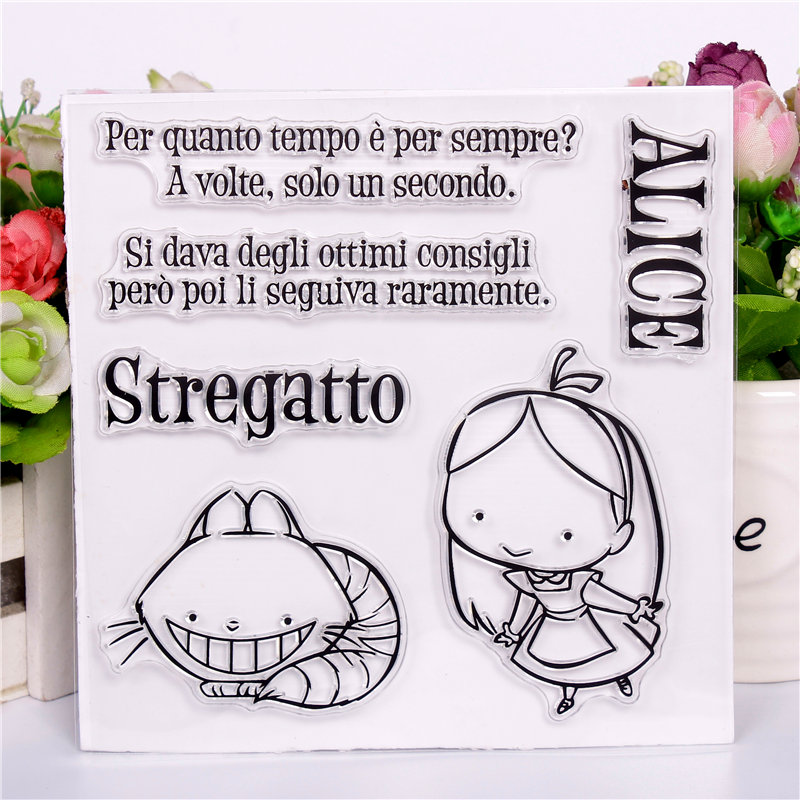 Italian girl DLKSDIY  paintings Transparent Clear Stamp DIY Silicone Seals Scrapbooking  Card MakingPhoto Album Decoration