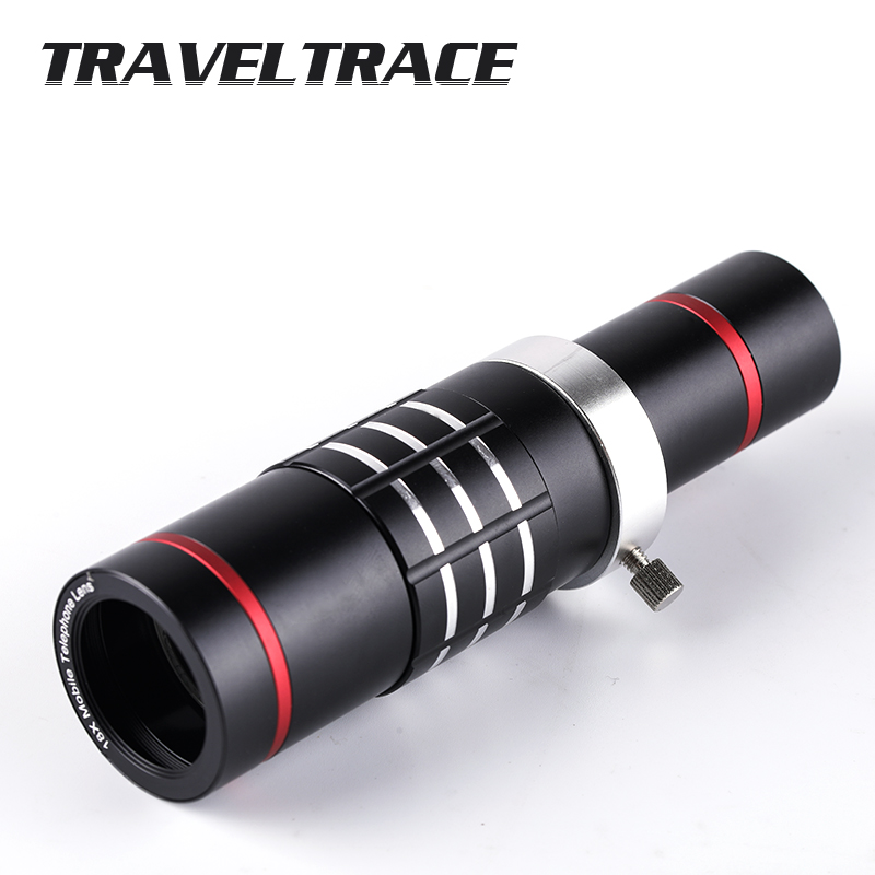 18x Metal Zoom Optical Telescope Telephoto Lens with Tripod Clip Kit Universal Phone Camera Lens for iPhone Mobile Phones in Monocular Binoculars from Sports Entertainment