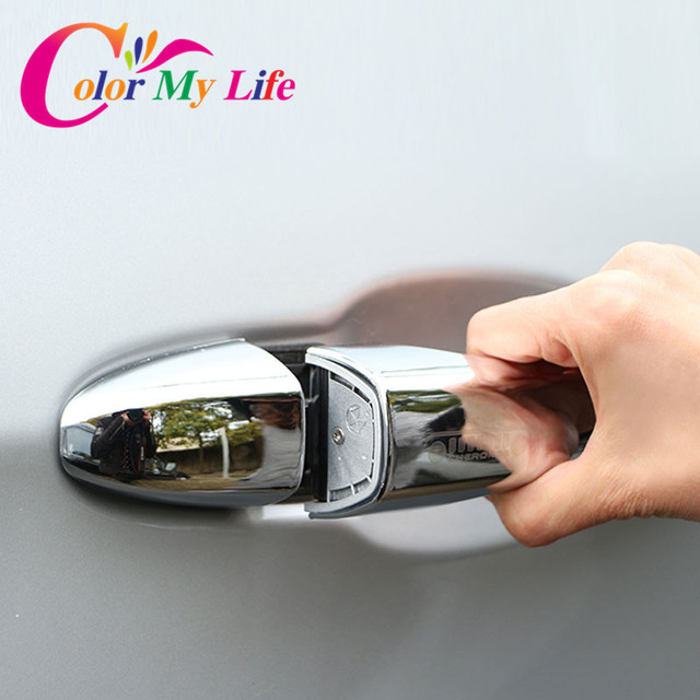 8 Pcs/Set ABS Chrome Silver Car Door Handle Protection Cover Door Decorative Covers for Jeep Compass 2017 2018 Accessories
