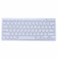 Original Aluminum Ultra Slim Mini Wireless Bluetooth Keyboard For Windows Android IOS PC Smart Phones 100