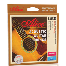 купить Wholesale 12 sets/lot Alice AW432-L Acoustic Guitar Strings Light 6-string Set Concert Strings дешево