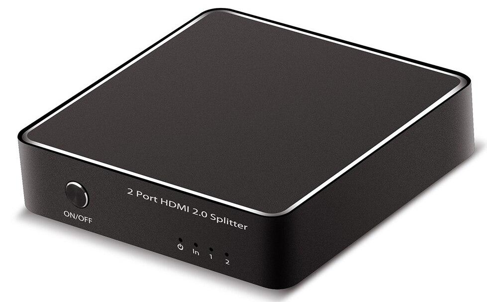 HDMI 2.0 Splitter, 1x2 HDMI Splitter Amplifier Ver 2.0 Certified for 4k x 2K (60Hz) & 3D 1080P Support 1 in 2 out Signal