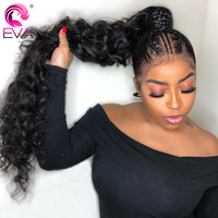 Eva Hair Fake Scalp 13x6 Lace Front Human Hair Wigs Curly 370 Lace Frontal Wig Pre Plucked With Baby Hair Brazilian Remy Hair