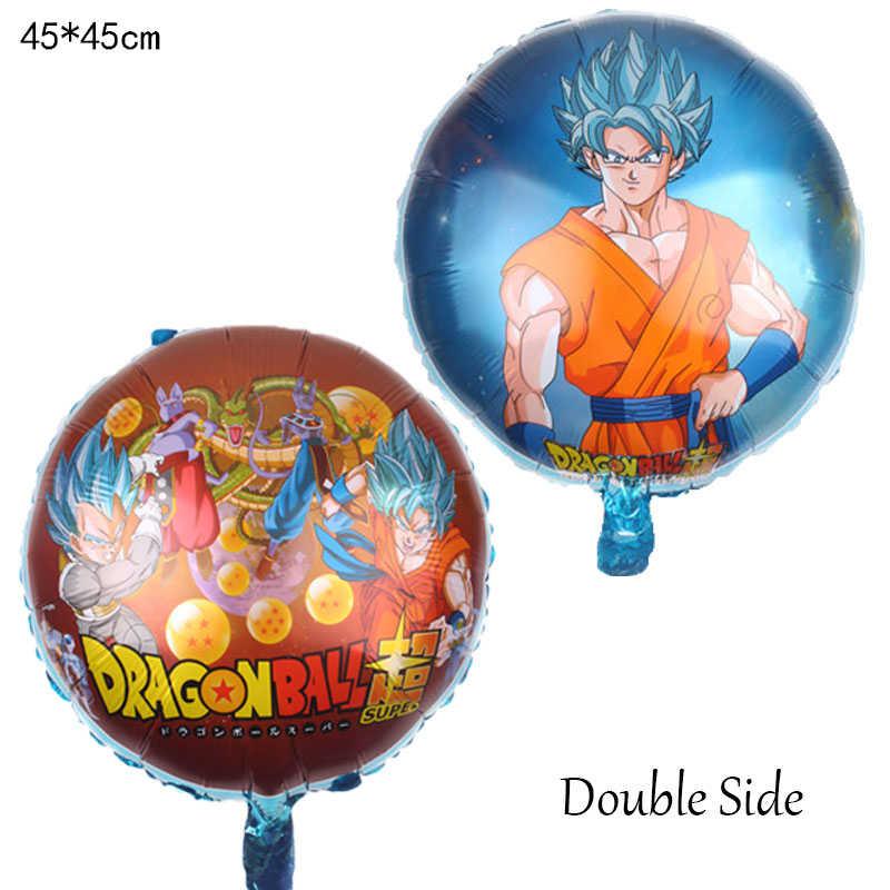 หมวกการ์ตูน 5 ชิ้น/เซ็ตการ์ตูน 7 Dragon Ball Goku บอลลูนฟอยล์ 32 นิ้วจำนวนบอลลูนชุดตกแต่ง Happy Birthday Party หมวกเด็ก