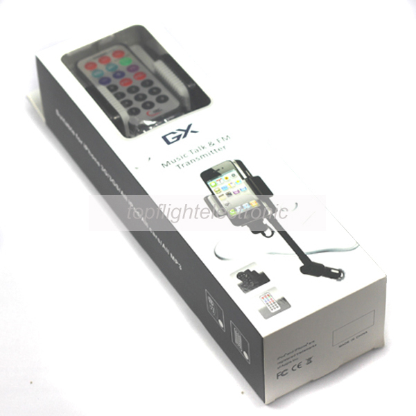 FM Transmitter And Music Talk for iPhone 4/4s;for ipod/all mp3/all cars  5pcs/lot
