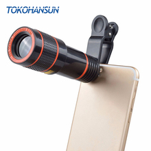 TOKOHANSUN Universal Clip 8X 12X Zoom Mobile Phone Telescope Lens Telephoto Camera Lens For iPhone Huawei Samsung Xiao Honor