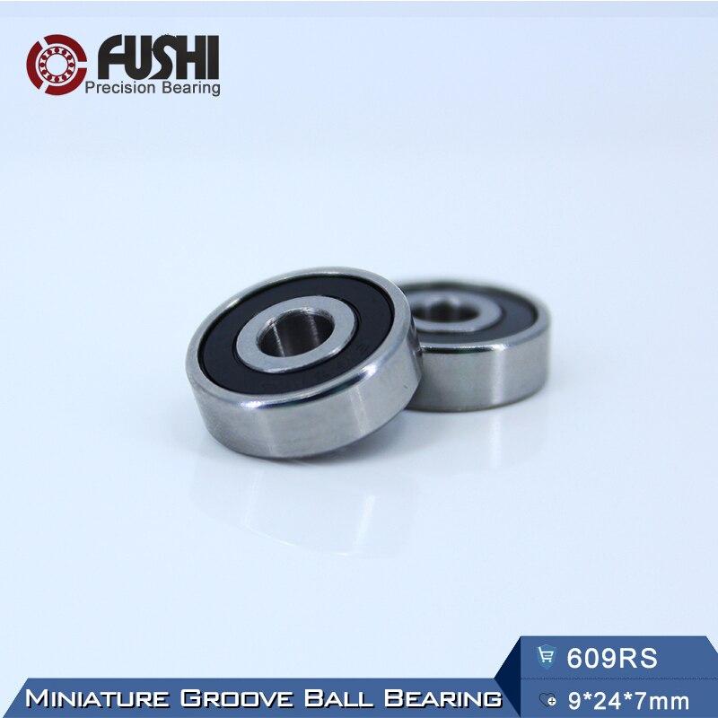 609RS Bearing ABEC-5 (10PCS) 9*24*7 mm Miniature Sealed 609-2RS Ball Bearings 609 2RS