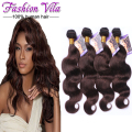 7A Brazilian Virgin Hair Body Wave 4 bundles Queen Hair Brazilian Body Wave Dark Brown Brazilian Virgin Hair Human Hair Weave 2#