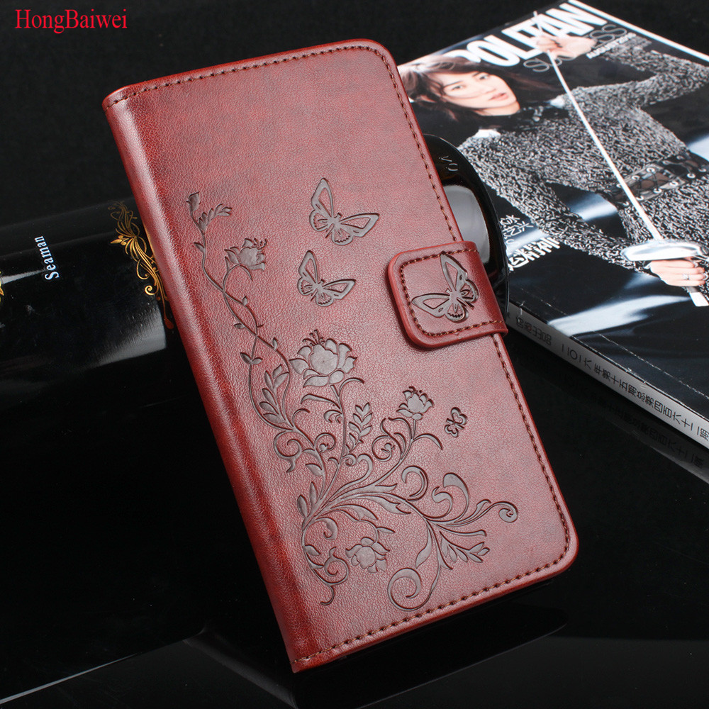 HongBaiwei pour Xiaomi Redmi 4X cas 5.0 pouce Redmi 4X pro couverture Flip Téléphone Portefeuille en cuir Cas pour xiaomi redmi 4X pro 4 X cas