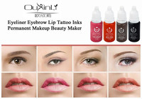 10Pcs Tattoo Ink Permanent Makeup Pigment 15ml Cosmetic Brown Tattoo Ink Set Paint For Eyebrow Eyeliner