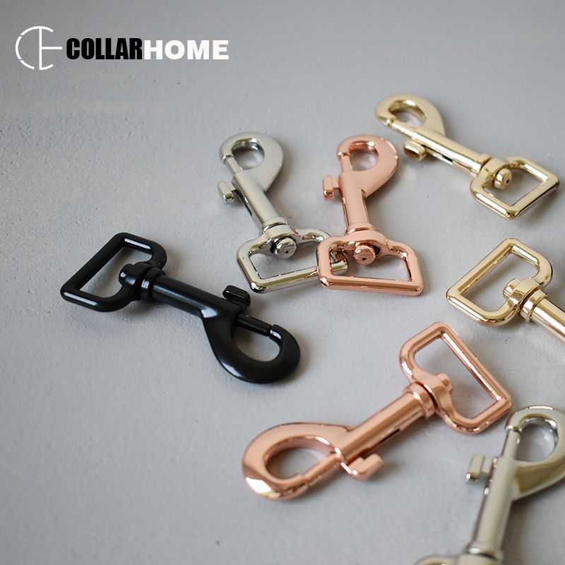10pcs metal buckle snap hook for key chain dog cat pet leash straps safe swivel lobster leather 25mm 1 inch belt buckle 4 colors in Buckles Hooks from Home Garden