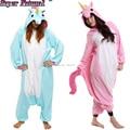 Winter Adult Couples Cartoon Anime Animal Blue Purple Unicorn Pajamas Kigurums Onesies Cosplay Costume Homewear For Christmas