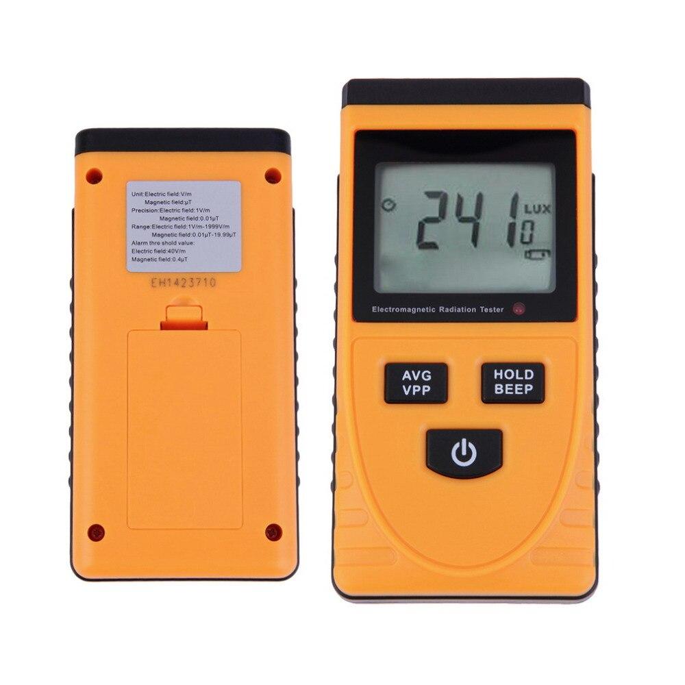 New Digital LCD Sound-light Alarm Electromagnetic Radiation Detector Bimodule Synchronous Test Meter Dosimeter Tester Counter  цены