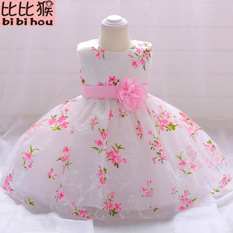 цены Summer baby dress for Girls Clothes Newborn Infant Baby Dress Kids Party Princess Tutu For Girls 1st birthday Dresses girls NEW