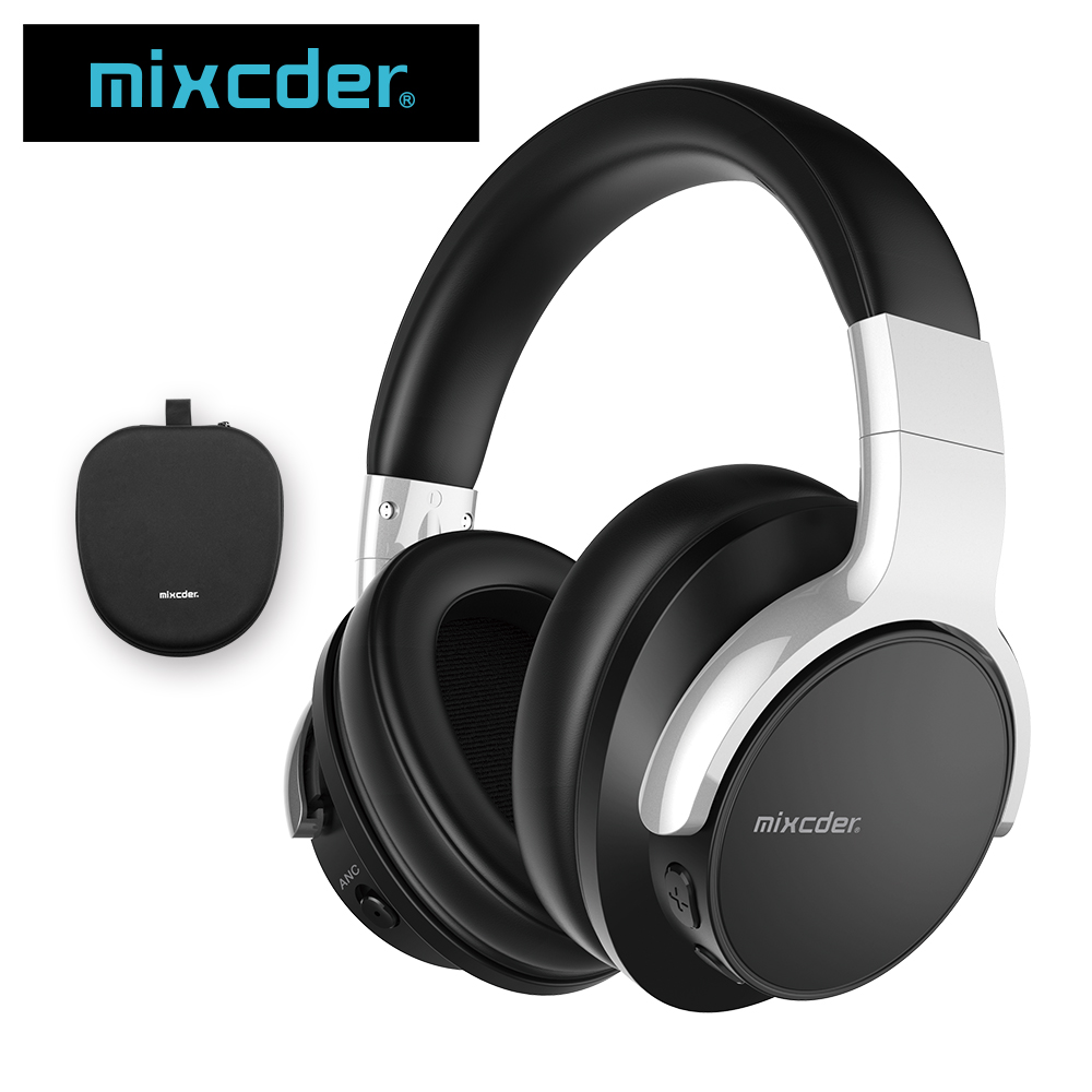 Mixcder E7 Active Noise Cancelling Bluetooth Headphone with Microphone Stereo Headset Deep Bass Wireless Headphones for phone