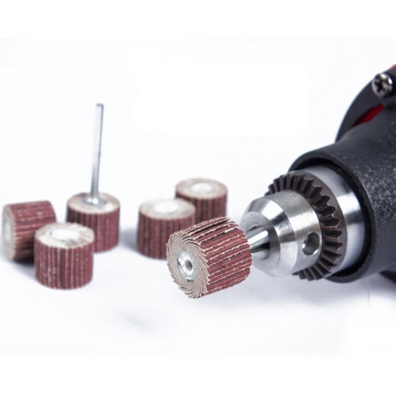 10 piezas 12 mm lijado lijado rueda carpintería dremel discos de lijado accesorios papel de lija dremel lijado