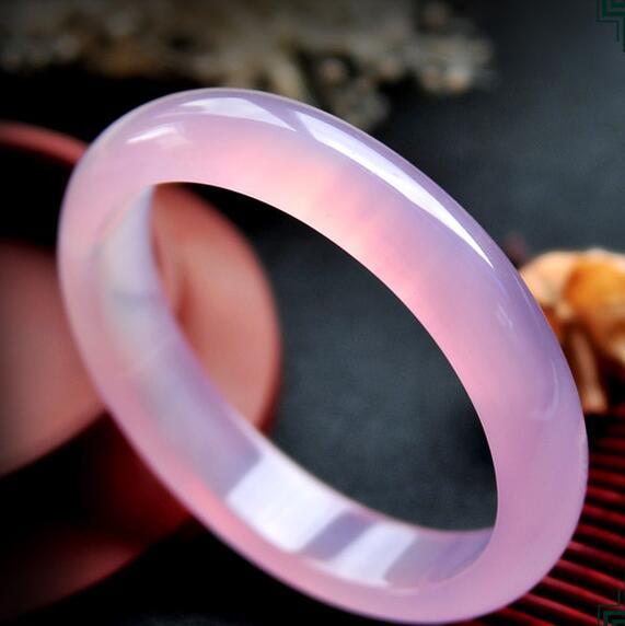 Fine Jewelry Fast Deliver Natural Beautiful Stunning Red Pink Green Natural Hetian Yu Bangle Bracelet 60mm Bracelets & Bangles