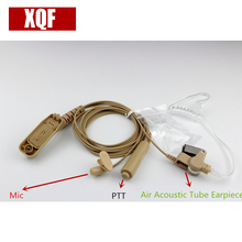 XQF Skin Air Acoustic Tube Earpiece PTT Mic Headset for Motorola XiR P8668 P8268 APX 7000 XPR 6500 XPR 6550 Walkie Talkie