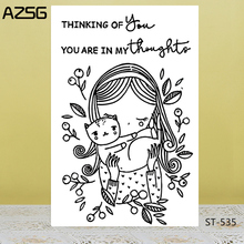 AZSG I miss you Clear Stamps/Seals For scrapbooking DIY Card Making/Album Silicone Decoration crafts 11*16cm