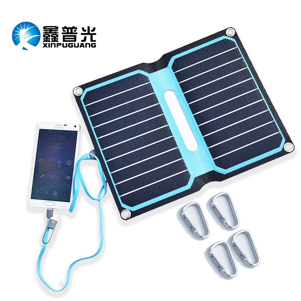 5V 10W ETFE laminated all-in-one high efficiency portable solar power bank 2A solar panel charger cell mobile phone