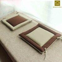 Thick Tatami Mats Pads Cushion Chair Seat Benches Pillow Home Decor Case Chair Pad Sofa Coussin Exterieur Lounge Cushion LKX064