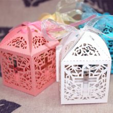50pcs Big Cross Laser Cut Wedding Baby Shower Favor Box Candy Gift Sweet Box Birthday Table Decoration Party Supplies
