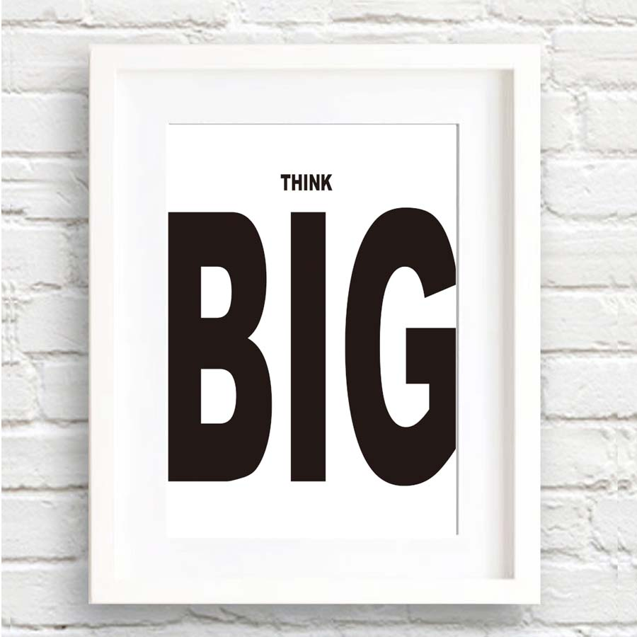 office canvas art. Modern Nordic Minimalist Think Big Inspirational Quote Canvas Art Print Poster Painting No Frame Office Wall Pictures Home Decor-in \u0026 Calligraphy D