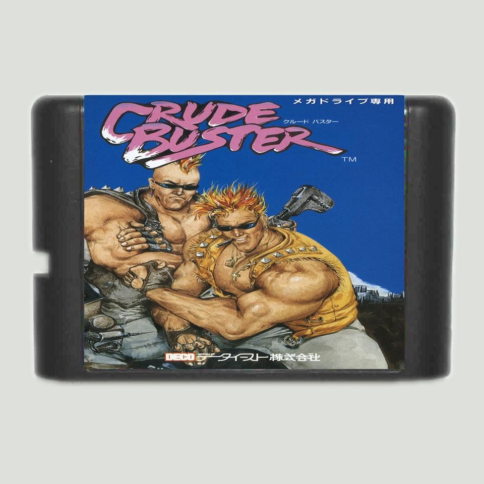 Brut Buster 16 bits MD Carte de Jeu Pour 16 bit Sega MegaDrive Genèse jeu console