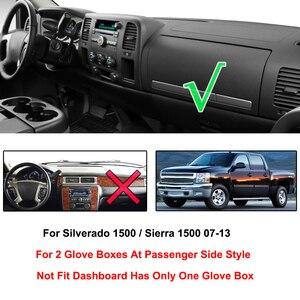 Image 2 - Chevrolet Silverado 1500 LT HD WT 4x4 2007   2013 Dash masası örtüsü Dashmat Dash Mat Pad güneş gölge Dash masası örtüsü halı
